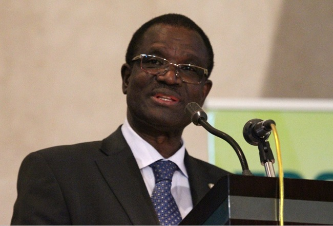 ECOWAS Commission President Ouedraogo presents report Photo: ECOWAS Press