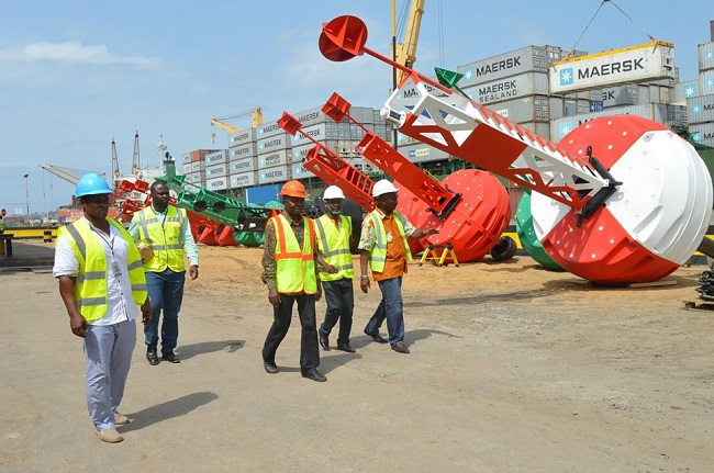 NPA staff inspect some of the new equipment