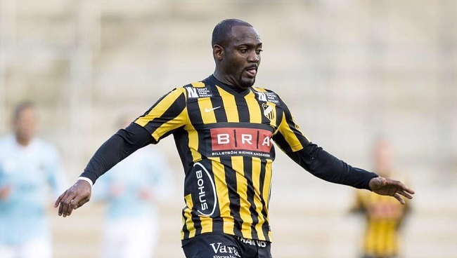 Nigerian striker Owoeri was on target twice for BK Hacken Photo: sportinglens.blogspot.se
