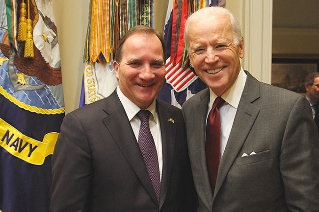 Prime Minister Stefan Löfven (left) and US Vice President Joe Biden. The photo was taken when Prime Minister Stefan Löfven visited Washington in March 2015. Photo: Monica Enqvist/Government Offices of Sweden