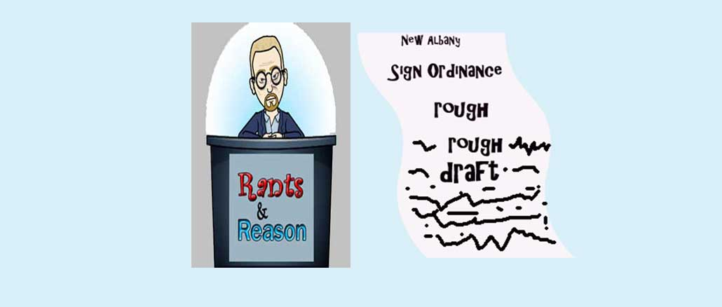 rough draft of the new sign ordinance