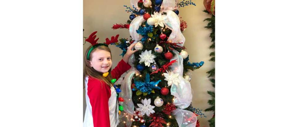 Patriotic Christmas Tree.Family Clinic Of New Albany S Patriotic Christmas Tree A 17