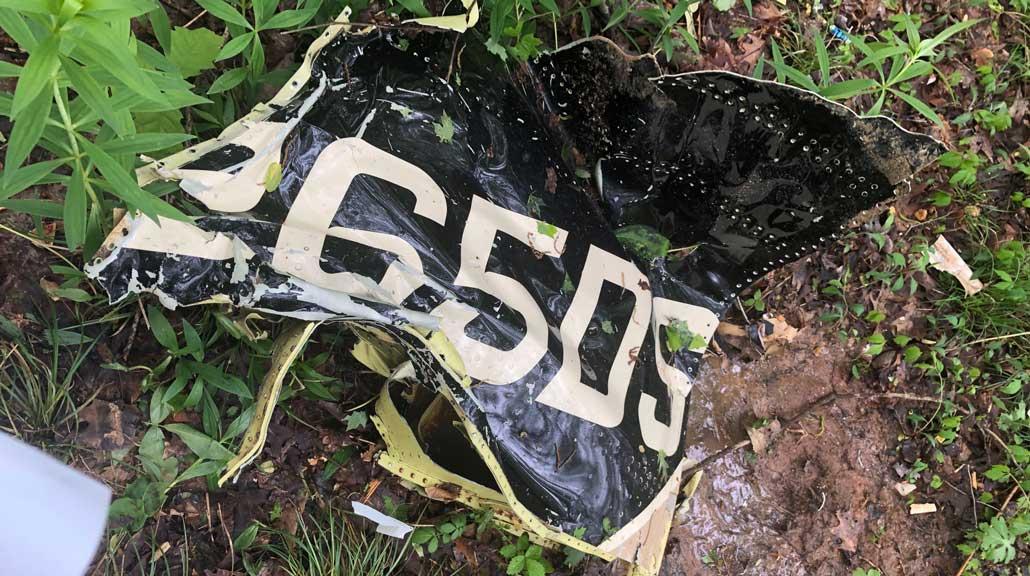 Union County MS crash site debris field