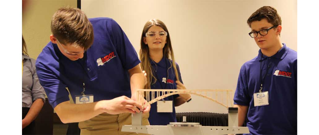 Union County MS Team Omega at national Bridge Building competition