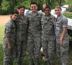New Albany MS JROTC cadets
