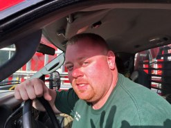 New Albany MS Fireman Blake Smith face burn