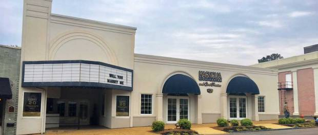 New Albany MS Magnolia Civic Center and curtains for the cine