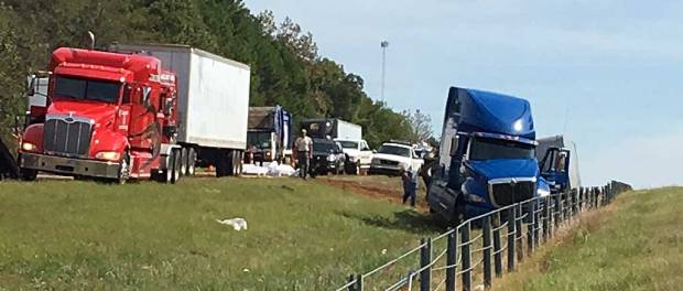 New Albany MS Truck accident on I-22 Oct 16