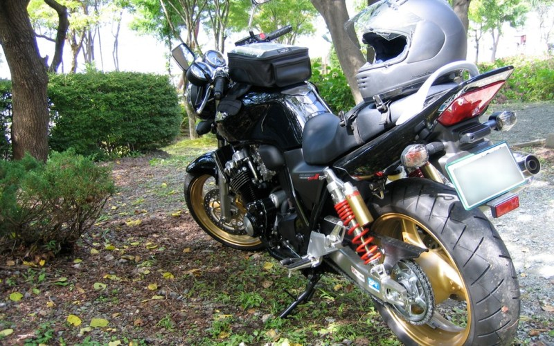 My CB400, taking a rest
