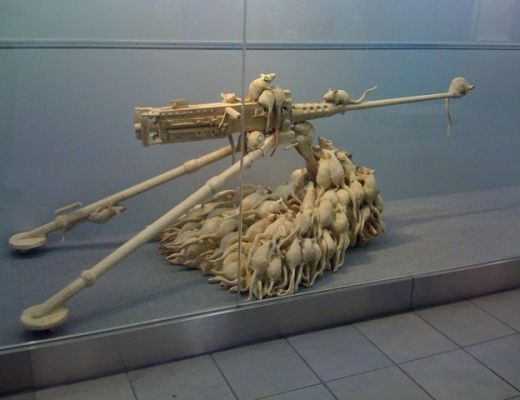 Rats on the machine gun art