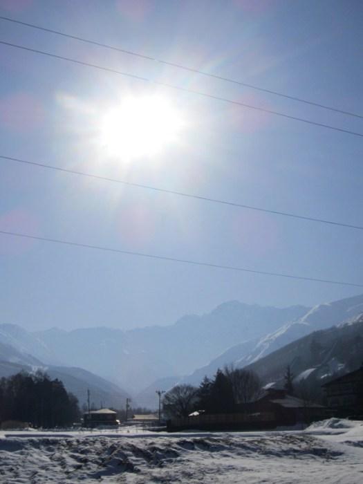 Sun over Hakuba