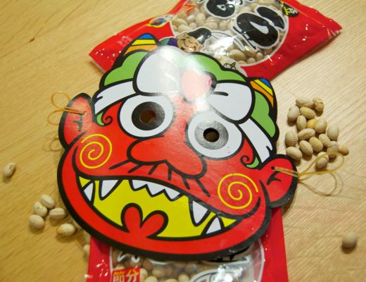 Mask and Beans on Setsubun