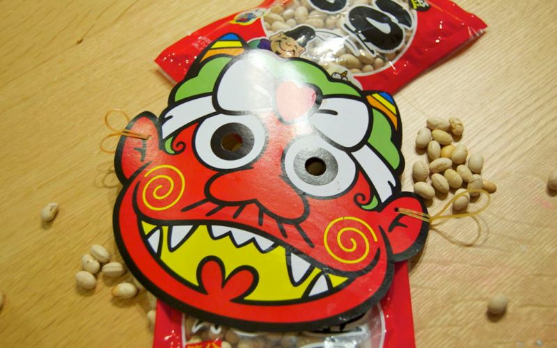 Mask and Beans on Setsubun