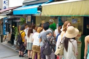 The queue for flat tako