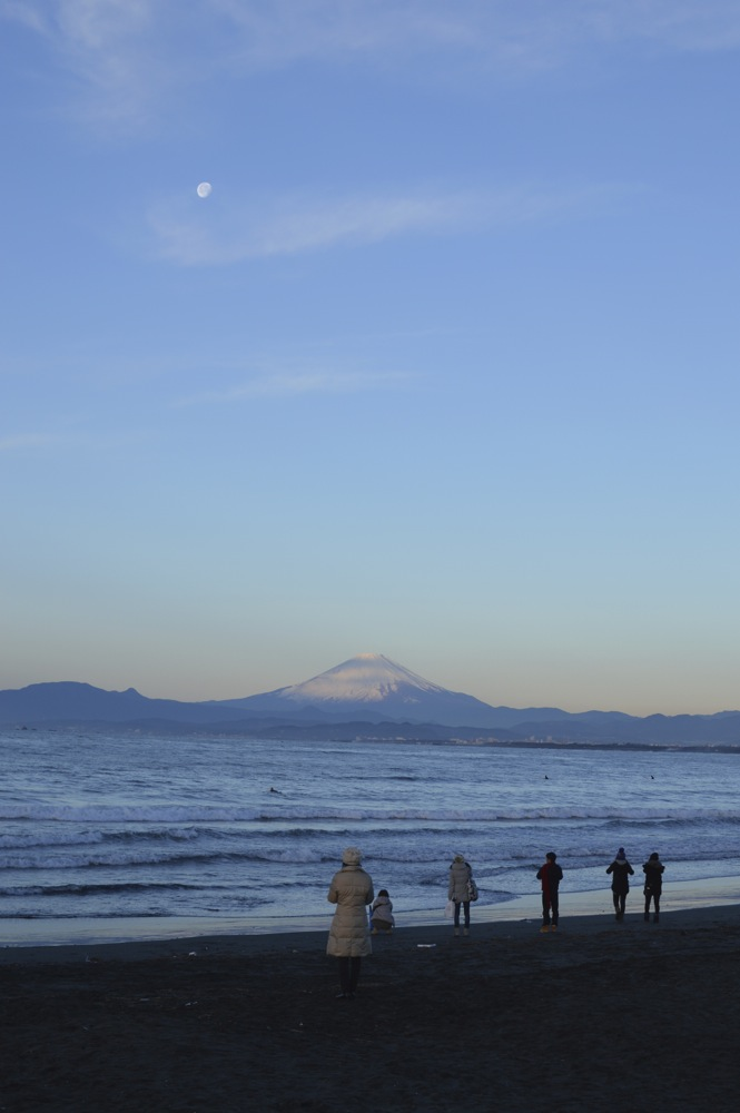 The First Sunlight of 2013 on Fuji