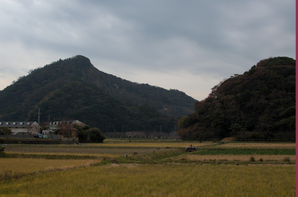 Rural Chiba with hills a rice fields