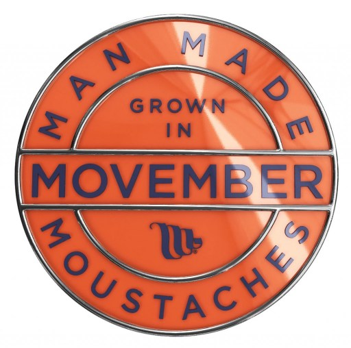 The Movember badge for 2014