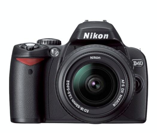 NIkon D40 front shot