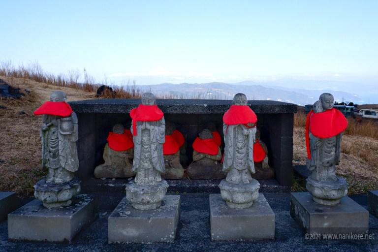 Jizou on the rim of Mt Omuro