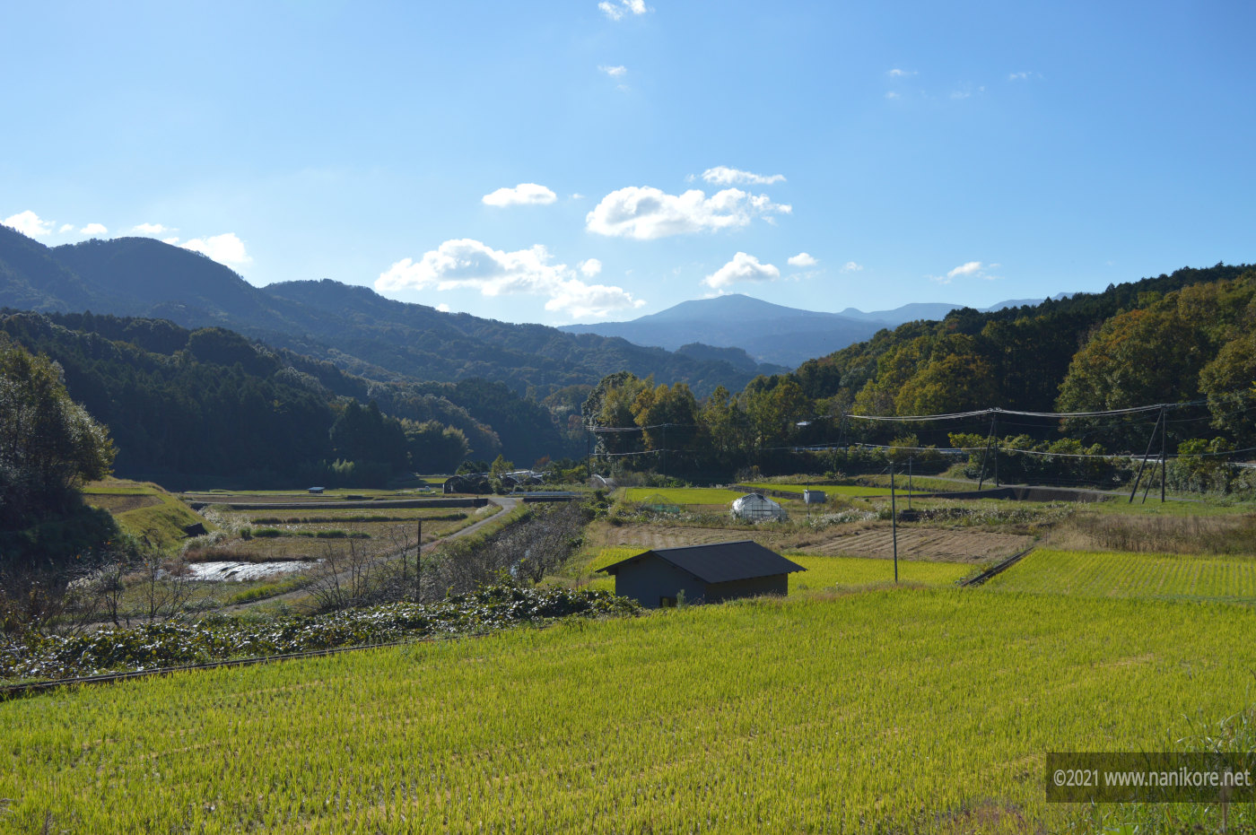 View down the farming valley of Izu