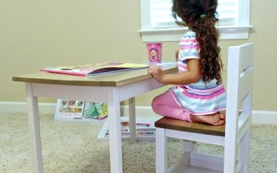 Building a Little Table and Chair – Fun, Easy and Cheap!