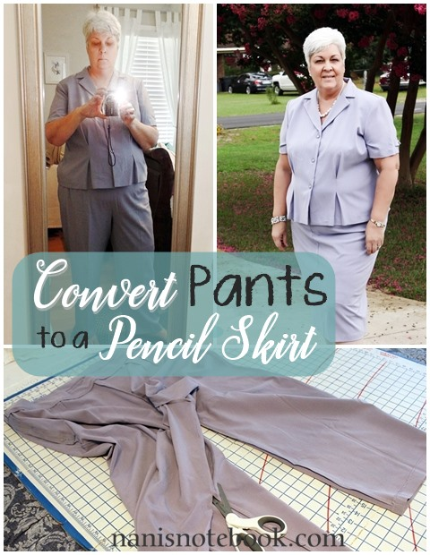 Convert Pants to a Pencil Skirt