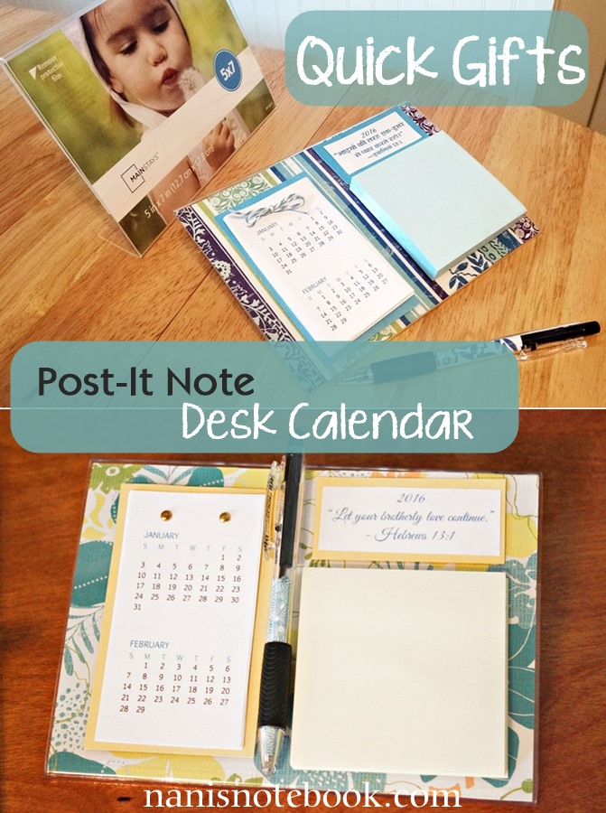 Post-It Desk Calendars