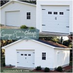 Quick Cheap Garage Door Makeover