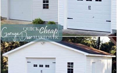 Quick Cheap Garage Door Makeover