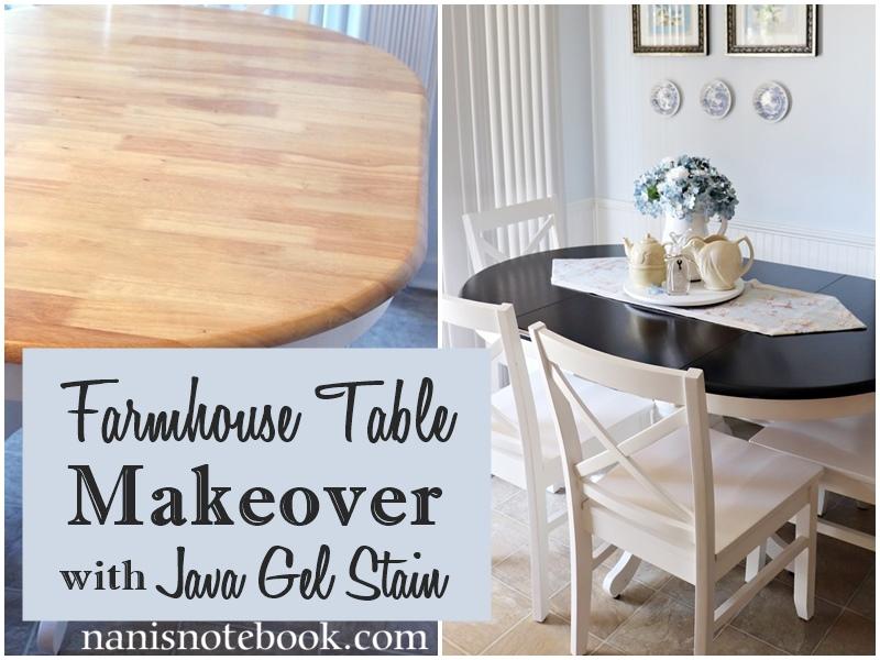 Farmhouse Table Makeover