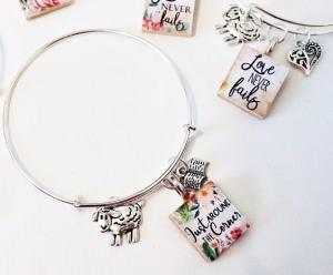 Scrabble tile jewelry