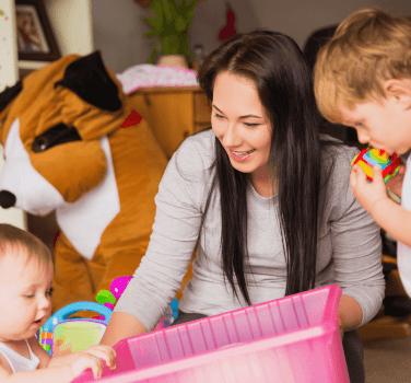 οργάνωσης για μια babysitter