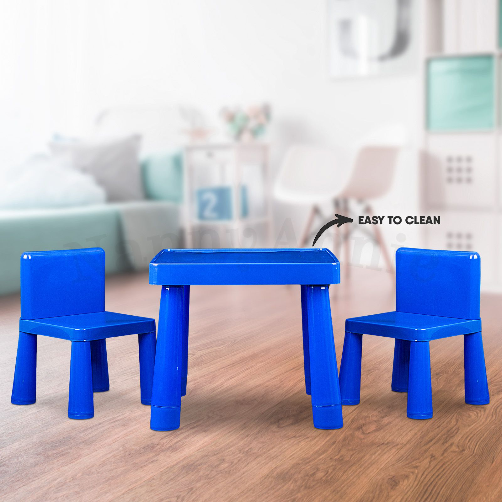 Kids Table Amp Chair Play Furniture Set Plastic Fountain