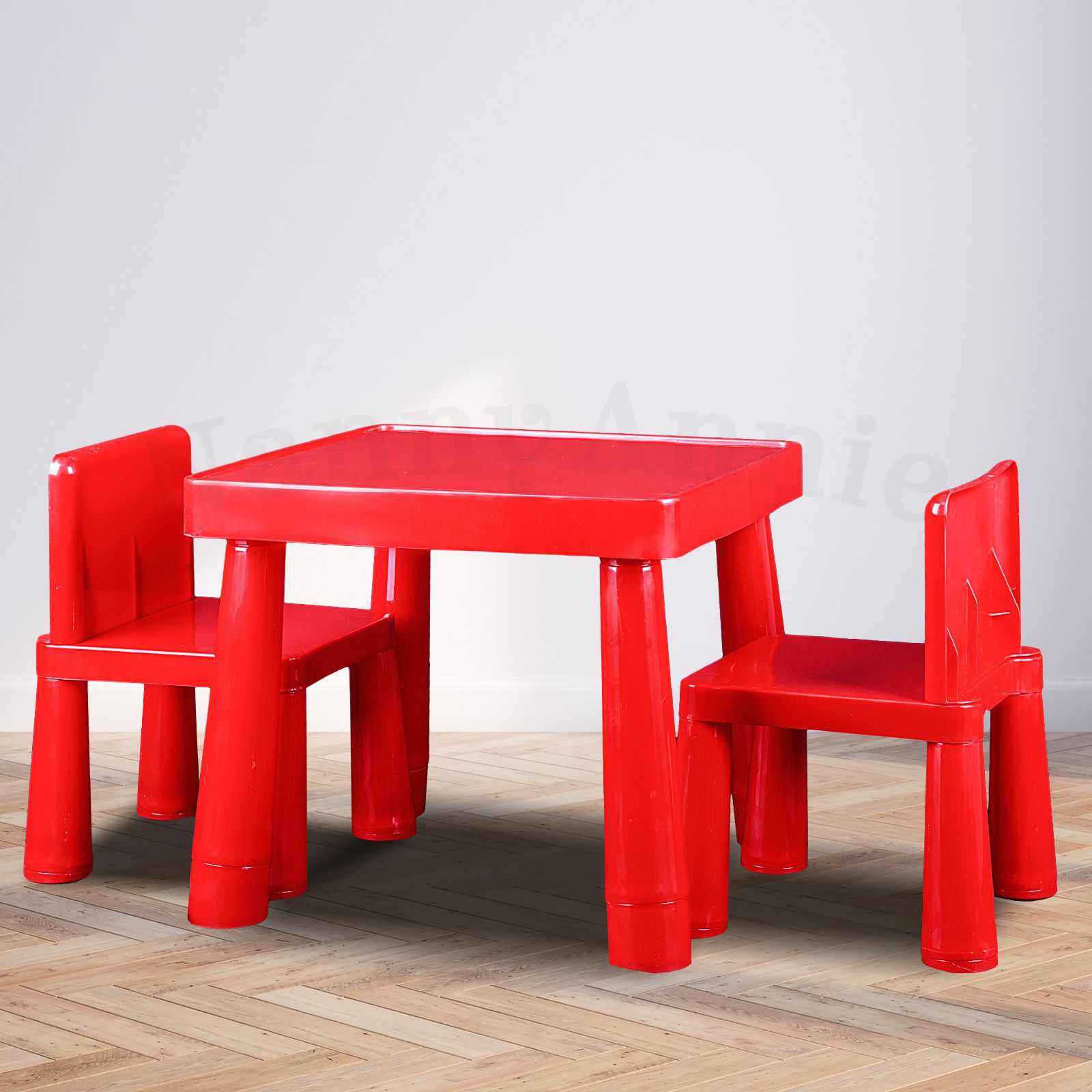 Kids Table  Chair Play Furniture Set Plastic Fountain