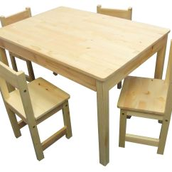 Wood Childrens Table And Chairs Gaming Chair Costco Natural 43 4 Rectangle Kids