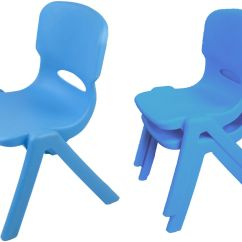 Kids Stackable Chairs Rocking Chair Pad Childrens Set Of 2 Blue Plastic