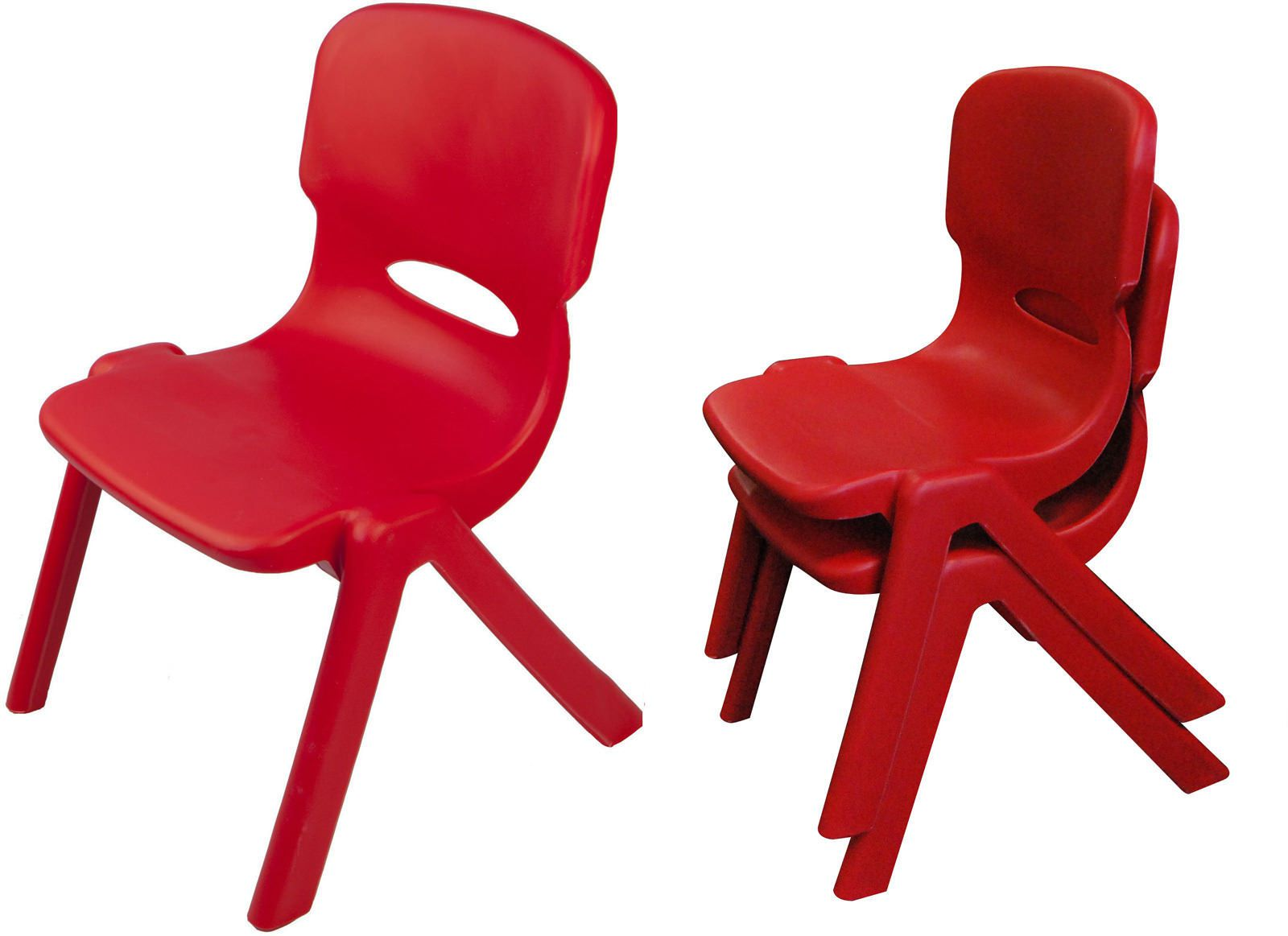 Childrens Chairs  Kids Chairs  Set of 2 RED Plastic
