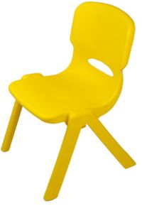 Kids Plastic Chair - Yellow - Toddler Chairs Childrens Toddler