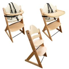 Baby Feeding Chairs In Sri Lanka Cooling Pad For Chair Wooden High 3in1 Highchair With Tray And Bar Beech Nanny Annie