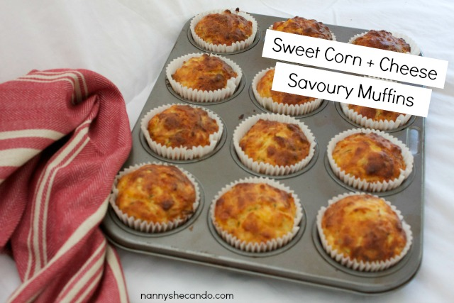 Sweet Corn + Cheese Savoury Muffins