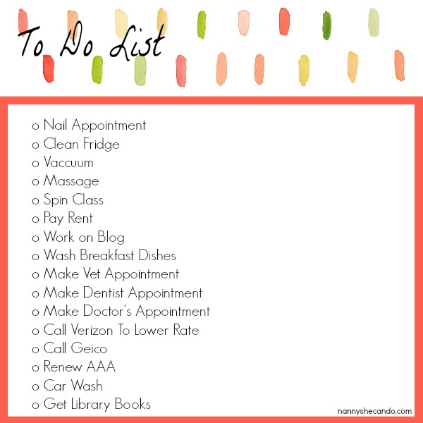 to do list - the guilt free parent