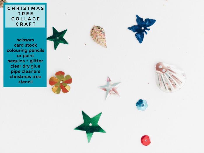 Christmas Tree Collage Craft, Nanny Shecando