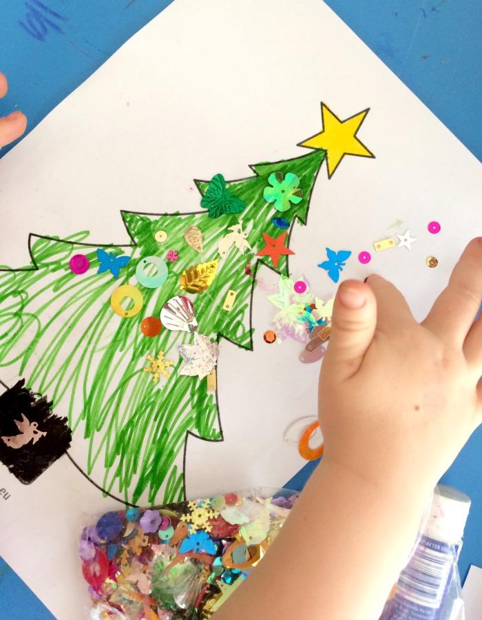 Christmas Tree Craft Collage