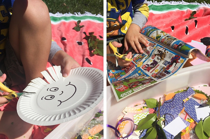 Make This Preschooler DIY Cutting Station, School Readiness, Back To School, Olivia Foster, NANNY SHECANDO, easy kids crafts