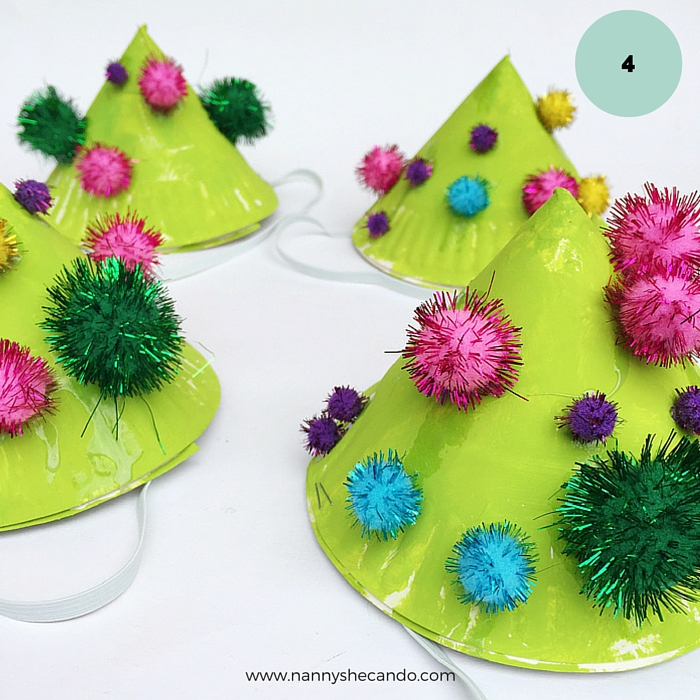 Toddler Friendly Easy Kids Christmas Crafts Christmas Party Hat