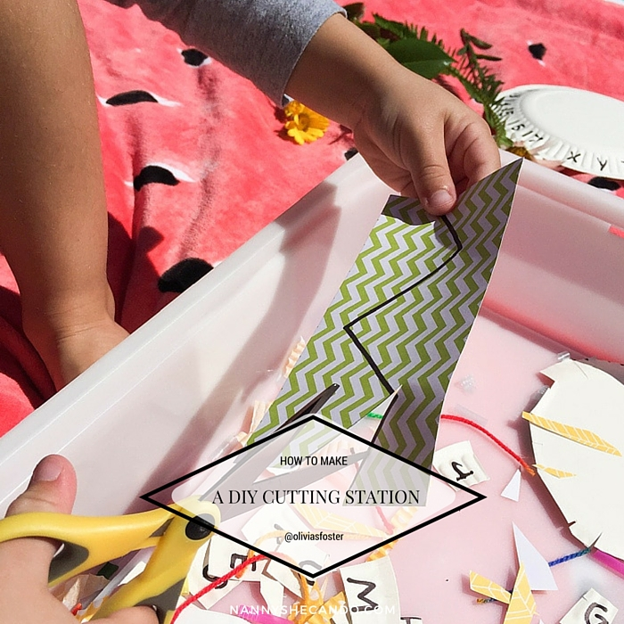 Make This Preschooler DIY Cutting Station, Olivia Foster, NANNY SHECANDO, School Readiness, easy kids crafts