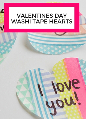 Valentines Day Washi Tape Wall Sticker Love Notes