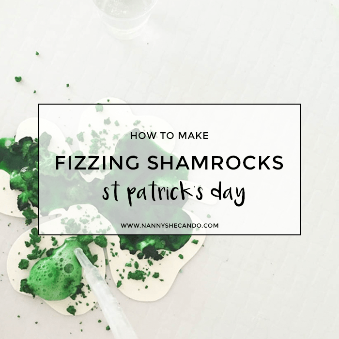St Patricks Day Fizzing Shamrocks Craft, A Crafty Living, Olivia Foster, easy kids crafts