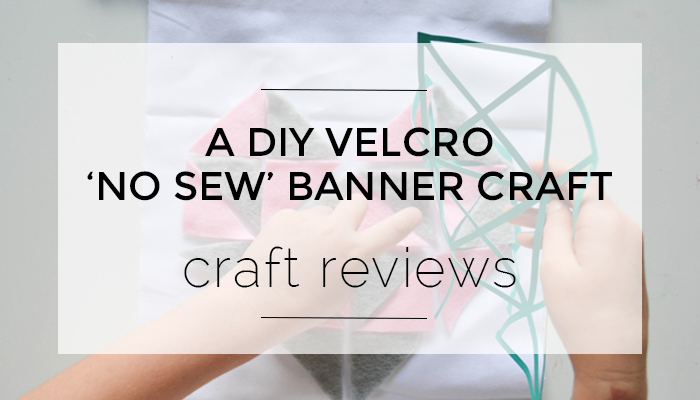 A DIY Velcro No Sew Banner from Dunne with Style