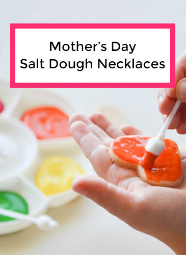 Salt Dough Necklaces for Mother's Day